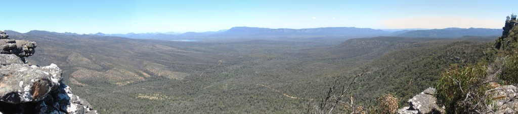 Panoramic view from Reed Lookout