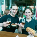 A little blurry view after some beer tastings at the Microbrewery beer tasting at Fed Square