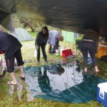 The next morning: Camp under water