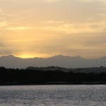 Sunset over Coorong National Park
