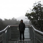 Rain! Tahune Air walk, Tasmania
