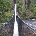Bridge over Huon, one of the two rivers at Tahune Forest, Tasmania
