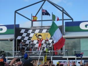 1. Stoner 2. Lorenzo 3. Rossi