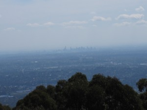 Melbourne Skyline view from Mount Dandenong