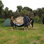 Moving tent to the other campsite