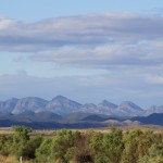 Wilpena Pound's typical structure from afar