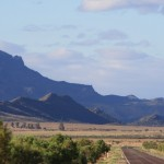 The Flinders Ranges on the left