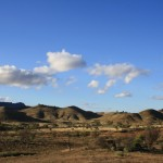 Smaller mountains of the Flinders Ranges on the right