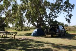 Our campsite at Farina Ruins