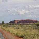 First glimpse of Uluru