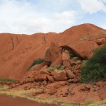 Lots of smaller rocks at the Big Red Rock