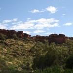 View from the first part of the Kings Canyon walk