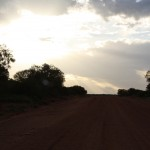 Gravel road after Kings Canyon