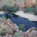 View into Ormiston Gorge
