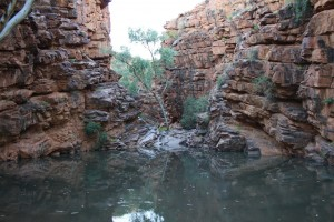 John Hayes Rock Hole - entrance to the Chain of Ponds
