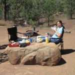 Breakfast at the Bunyeroo Gorge Camping Site