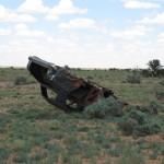 Car wreck along the Oodnadatta Track