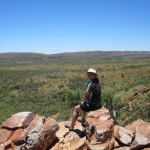 View of the MacDonnell Ranges on top of Serpentine Gorge