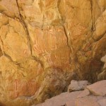 Aboriginal paintings at Anthwerrke aka Emily Gap