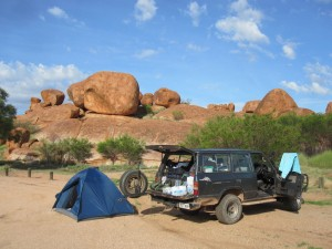 Our campsite at Devils Marbles