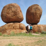 Sweetie and Cutie at the Devils Marbles