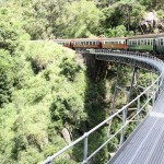 Kuranda Railway crossing one of 37 bridges