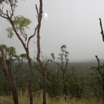 Kalkani Crater and heavy rain .. not much crater to see