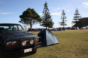 Our campsite at Rapid Bay