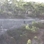 The other end of the dam