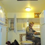 Some working space in the caravan