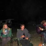 Campfire at the caravan park