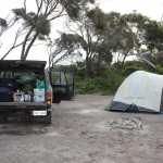 Our campsite at Fishery Beach