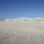 Dunes everywhere, tracks everywhere...