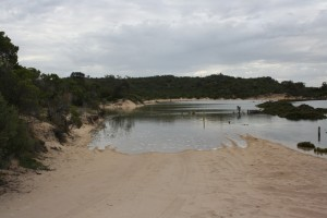 High tide at Yangie Bay - how to get to Coffin Bay NP?