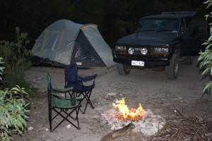 Campsite at Yangie Bay, Coffin Bay NP