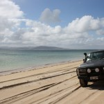Seven Mile Beach - LandCruiser taking a sunbath