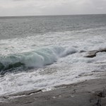 Undamped surf of the Pacific Ocean