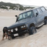 LandCruiser at a frightening angle