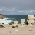 Sculptures on the Clifftop Drive near Elliston