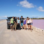 Team, Landcruiser and Pink Lake