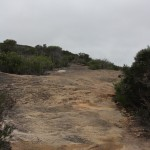 Rocky slope - luckily it was still dry