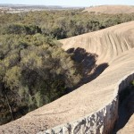 Water catchment wall on top of the Wave Rock