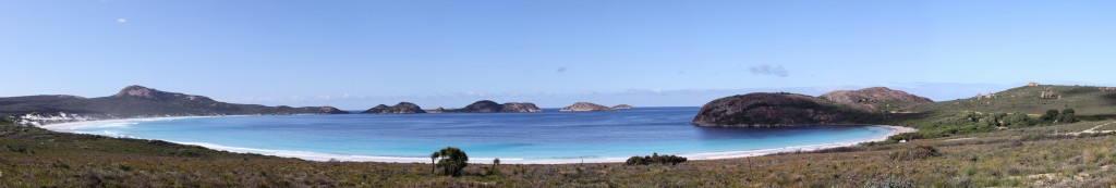 Panorama view of Lucky Bay