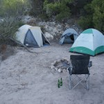Tents, campfire .. and the Indian Ocean only 30 meters away