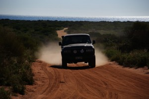 Driving in the Francois Peron NP