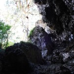 Rocks in the hole at Lake Cave