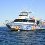 Our boat from Ningalo Reef Dreaming
