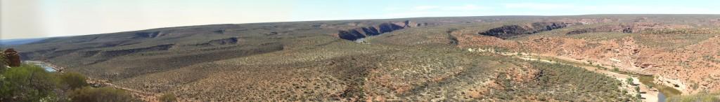 The Loop panorama, Kalbarri NP