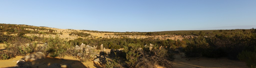 Panorama view of the Pinnacles