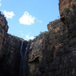 Jim Jim Falls - a lot bigger than they look, hold on.